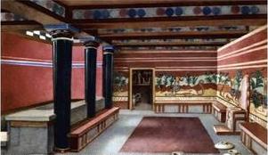 Реконструкция тронного зала Кносского дворца